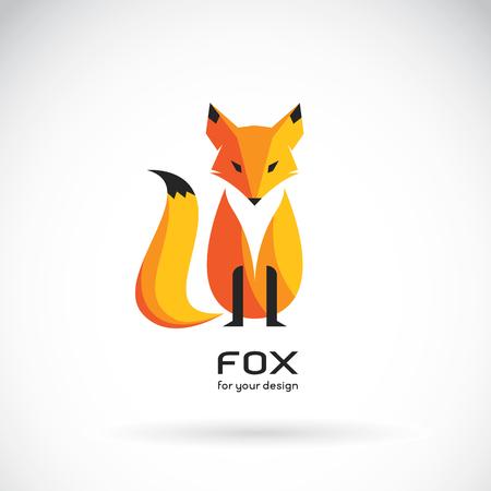 귀하의 디자인에 대 한 벡터 여우 흰색 배경에 폭스 디자인의 벡터 이미지. 동물 로고.