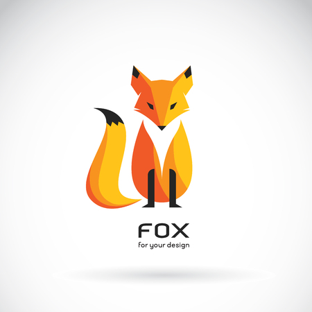 Vector image of a fox design on a white background, Vector fox for your design. Animal Logo.
