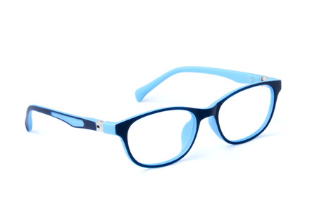 Modern fashionable spectacles isolated on white background, Perfect reflection, Glasses
