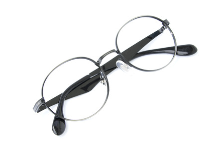 bifocals: Modern fashionable spectacles isolated on white background, Perfect reflection, Glasses