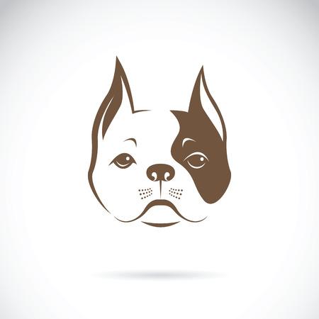 Vector of a dog face on a white background. Bulldog. Animal Logo.