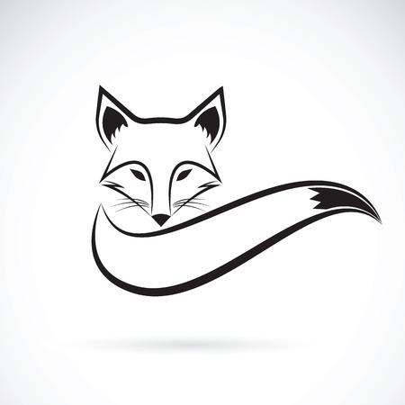 Vector afbeelding van een vos ontwerp op een witte achtergrond, wilde dieren, vector illustratie. Stock Illustratie