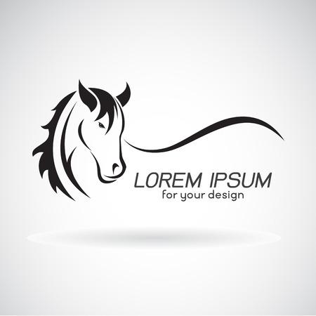 Image vectorielle d'une conception de tête de cheval sur fond blanc, Cheval Logo. Animaux sauvages. Vector illustration. Banque d'images - 68287016