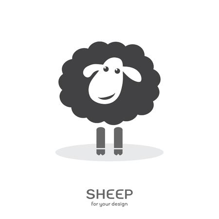 ovejas bebes: Vectorial de un diseño ovejas en el fondo blanco.