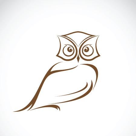 白い背景に、野生動物のフクロウ デザインのベクトル。