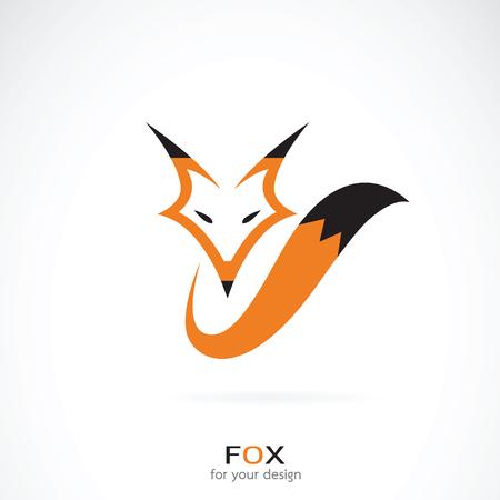 Vectorial de un diseño de zorro sobre fondo blanco. Animales salvajes.
