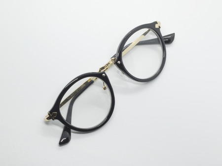 spectacle: Modern fashionable spectacles isolated on white background, Perfect reflection, Glasses