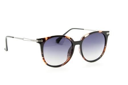 Modern fashionable sunglasses on white background, Glasses