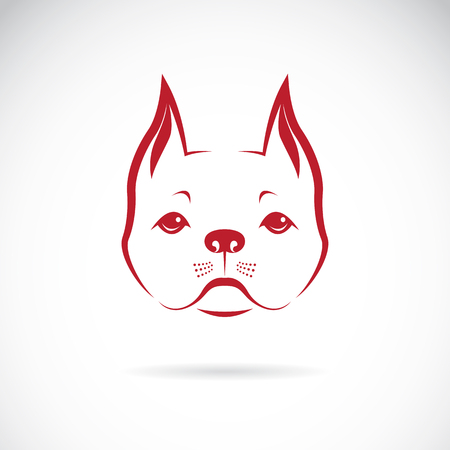 Vector of a dog face on a white background. Bulldog. Pet Illustration