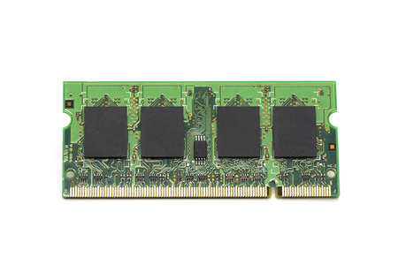 Image of a ram memory on a white background. Equipment and computer hardware.