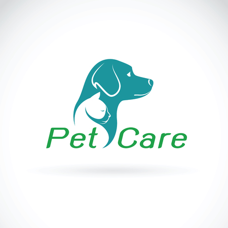 Vector of pet care shop design on white background. Dog and Cat. Logo Animal