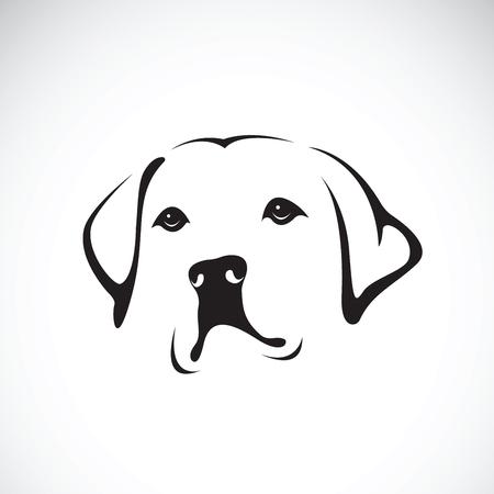 Vector de una cabeza de perro en el fondo blanco, animal doméstico. Animales.