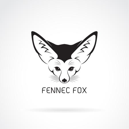Vector of Fennec fox head on a white background. Wild Animals.