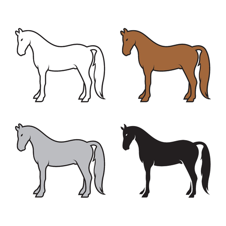 Group of horse icon.