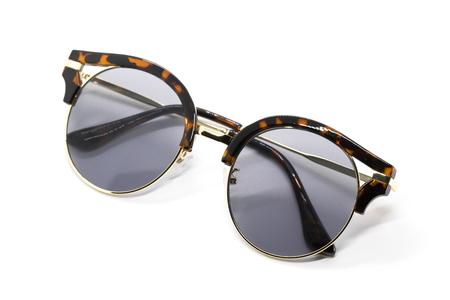 Modern fashionable sunglasses isolated on white background, Glasses.