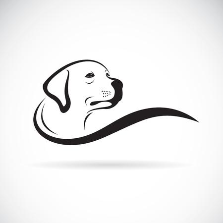 Vector van een hond hoofdontwerp (Labrador) op witte achtergrond, Huisdier. Dieren.