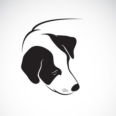 Dog head icon. Illustration