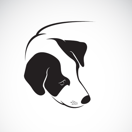 Dog head icon. Illustration