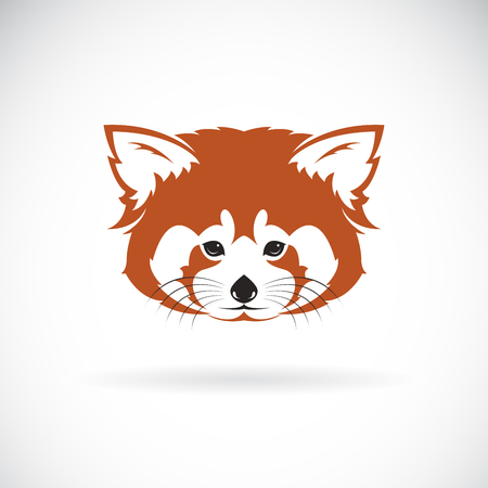 Vector of red panda head design on white background.
