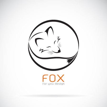 Vector of a fox design on white background. Wild Animals. Easy editable layered vector illustration.  イラスト・ベクター素材