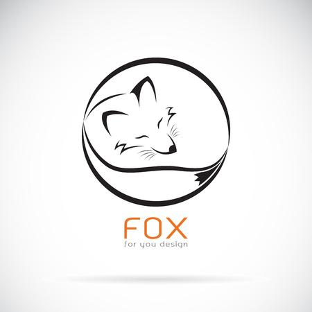 Vector of a fox design on white background. Wild Animals. Easy editable layered vector illustration. 일러스트