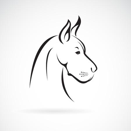 Vecteur d'une tête de chien