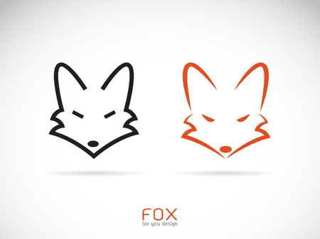Vector of a fox head design on a white background. Illustration