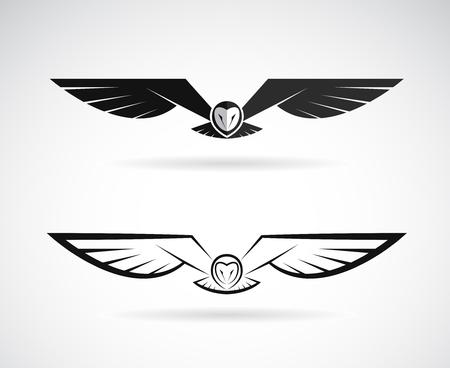 vecteur d & # 39 ; un design hibou sur un fond blanc