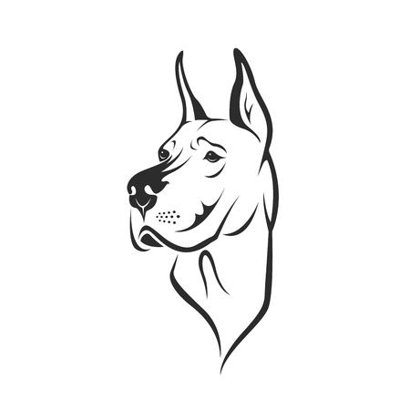 Tête de chien Banque d'images - 97138676