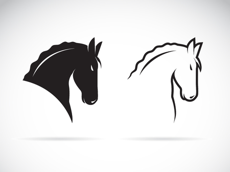 Horsehead design in black and white