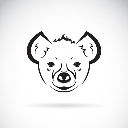 Vector of a hyena(Hyaenidae) head design on white background. Wild Animals. Easy editable layered vector illustration.