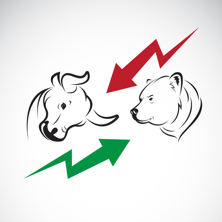 bull and bear symbols of stock market trends.