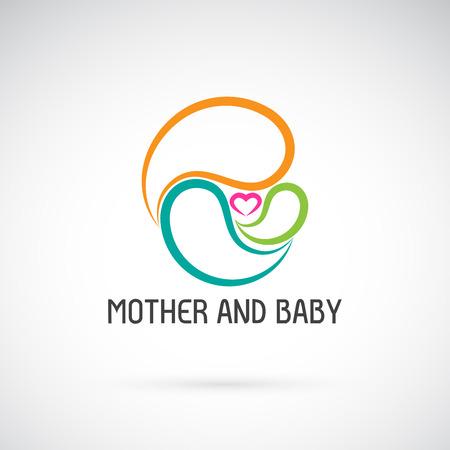 Icono de vector de diseño de madre y bebé. Expresión de amor. Ilustración vectorial en capas fácil de editar.