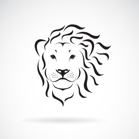 Vector of lion head design on a white background. Wild Animals. Easy editable layered vector illustration.