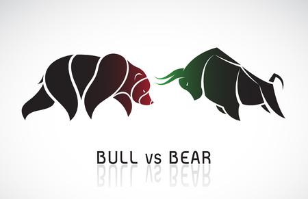 Bull and bear symbols of stock market trends. 免版税图像 - 121638527