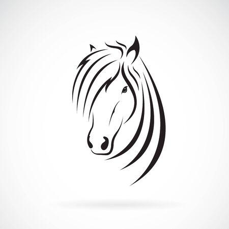 Vector de diseño de cabeza de caballo en un blanco Ilustración de vector