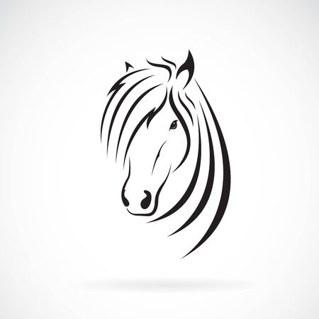 Vector of horse head design on a white