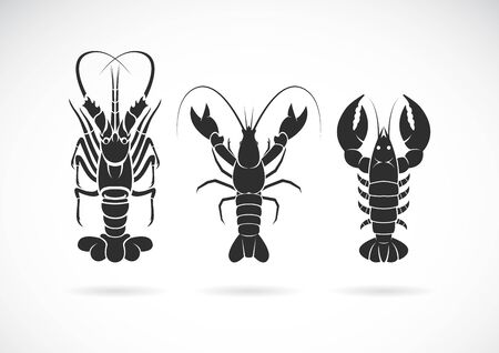 Group of lobster design on white background. Sea Animal. Seafood. lobster icon or logo., Easy editable layered vector illustration.