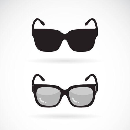 Vecteur de conception de lunettes de soleil sur blanc Vecteurs