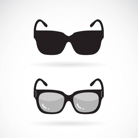 Vector of sunglasses design on white Vector Illustration