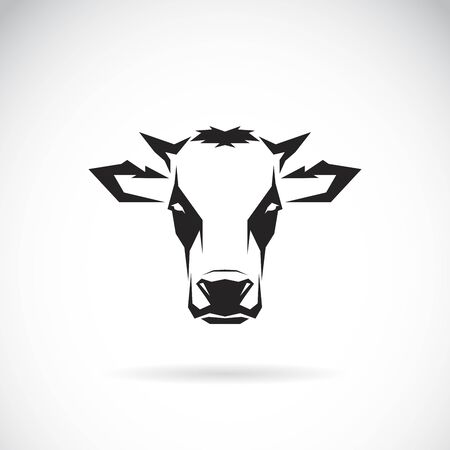 Vector of a cow head design on white background. Farm Animal. Easy editable layered vector illustration. Ilustrace