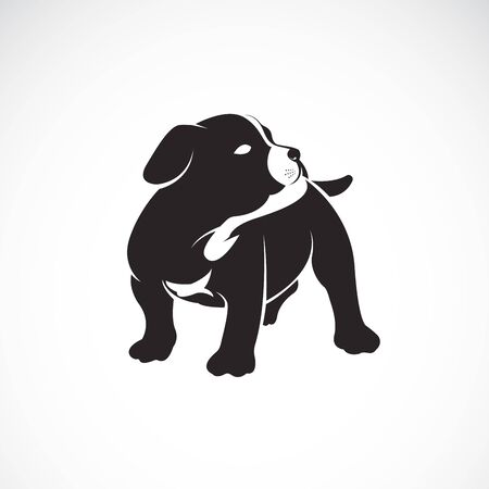 Vector of puppy on white background. Dogs. Pet. Animal. Easy editable layered vector illustration. Illustration