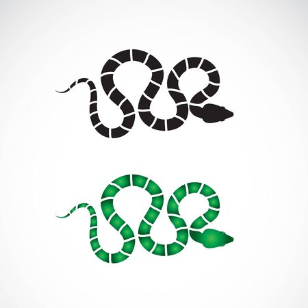 Vector of snake design on white background. Animals. Reptile. Snakes logo or icon. Easy editable layered vector illustration. Ilustrace