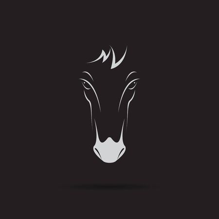 Vector of a horse head design on black background. Wild Animals. Horse head icon or logo. Easy editable layered vector illustration.