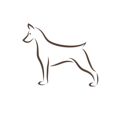 Vector of doberman pinscher dog design on white background. Easy editable layered vector illustration. Pet. Animals.