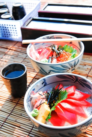 japanese food rice with fish Stock Photo - 9188284