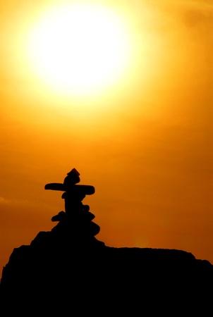 stones silhouette Stock Photo - 9188285
