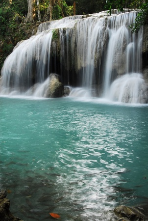 Earawan waterfall in Thailand