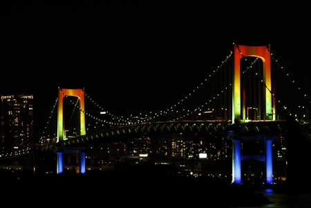 Bridge color night