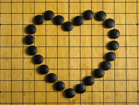 Heart on Go board